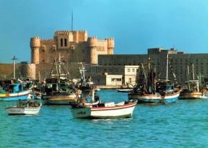 stredoveká pevnosť sultána Kajt Baja, kedysi tam stál slávny maják