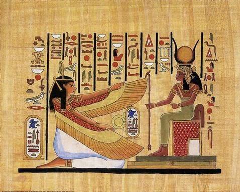 ukážka hieroglyfického textu