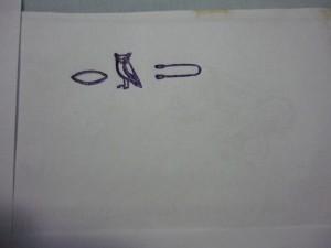 hieroglyfický zápis slova ľudstvo - a inak za toto by ma isto z pisárskej školy v starom Egypte vyhodili