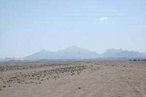 """v pozadí druhý najvyšší vrch Egypta Šajíb, neexistujúca fatamorgána a hlavne """"Oblak Solitér"""""""