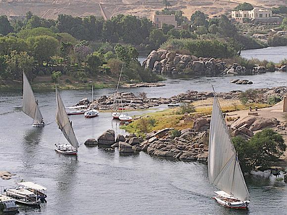 romanticke feluky na Nile v Asuane