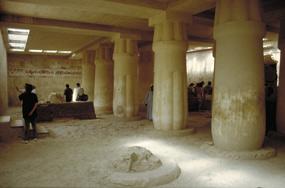 časť hrobky egyptského šľachtica